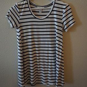Casual soft cotton striped shirt